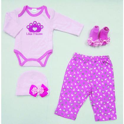 Σετ Βρεφικά Ρούχα Palamaiki New Baby 0104 Pink - Λευκά είδη Ourhome ... e1ab6036181