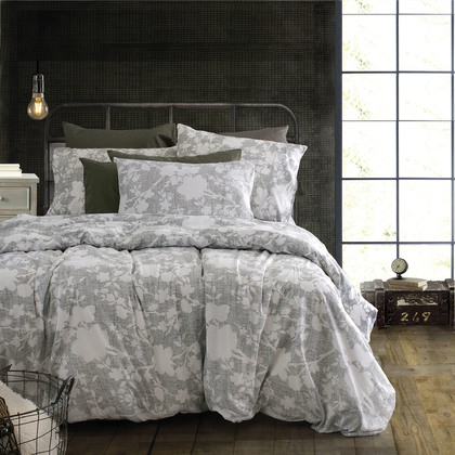 Single Bedspread Set Rythmos Symbol Clyde Grey