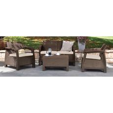 Product partial 55 corfu set brown