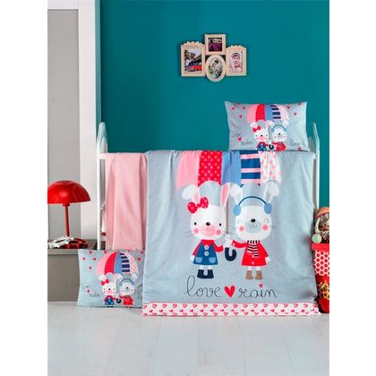 68fd687af31 Σετ Σεντονιών Μπεμπέ 100x150 Palamaiki Happy Baby Collection HB0533 ...