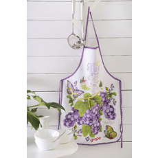 Product partial apron grape web