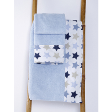 Product partial towel baby stars blue