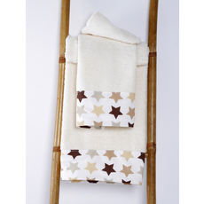Product partial towel baby stars cream