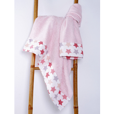 Product partial towel baby stars pink